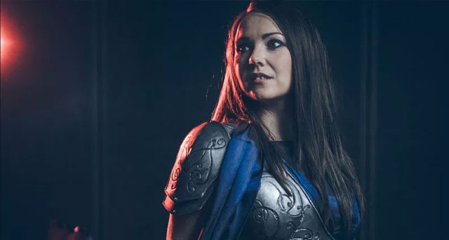Jane Foster Cosplay – blue Asgard dress and armor