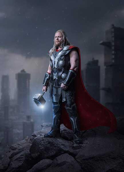 Thor Cosplay Shooting Digital Art Dheny Patunka Composing Photoshop Urban