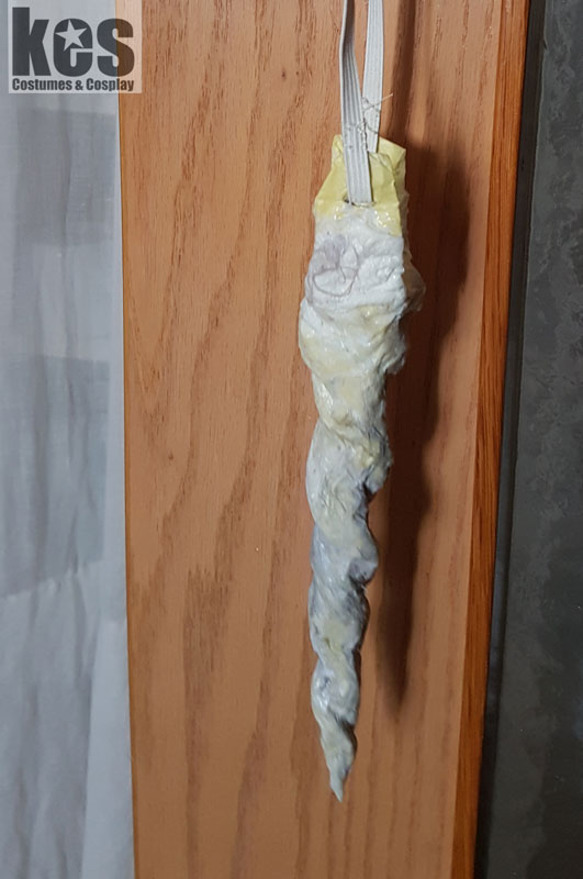 Halloween Unicorn costume Tutorial - let it dry over night
