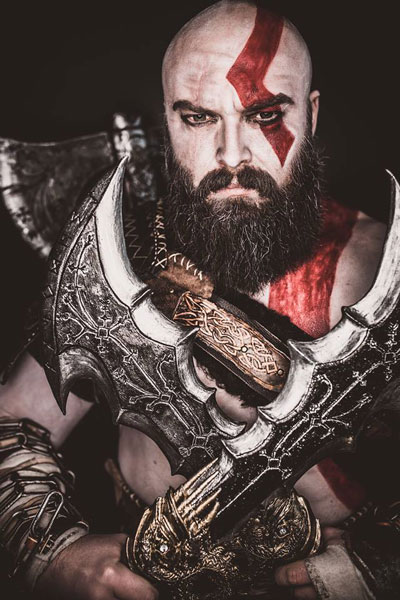 Kratos Cosplay Kes Cosplay God of War Blades of Chaos Foam Smith